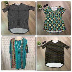 Lularoe T Shirt Lot XXS XS SMALL Lot of 4 LLR